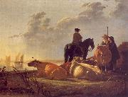 Cattle with Horseman and Peasants Aelbert Cuyp