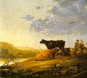 Young Herdsman with Cows by a River Aelbert Cuyp