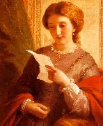 Girl Reading a Letter Alfred Chalon