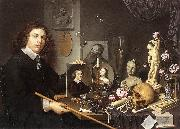 Self-Portrait with Vanitas Symbols dddw BAILLY, David
