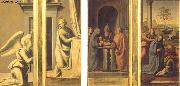 The Annunciation (front), Circumcision and Nativity (back) BARTOLOMEO, Fra