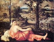Reclining Woman in a Landscape fd CARIANI
