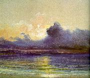 Sunset at Sea Charles Blechen
