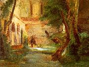 Monastery in the Wood Charles Blechen