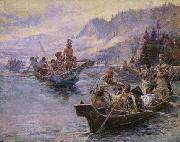 Lewis and Clark on the Lower Columbia Charles M Russell