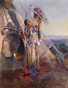 Sun Worship in Montana Charles M Russell