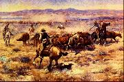 The Round Up Charles M Russell