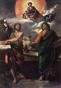 The Virgin Appearing to Sts John the Baptist and John the Evangelist dfg DOSSI, Dosso