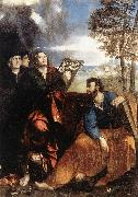 Sts John and Bartholomew with Donors ds DOSSI, Dosso