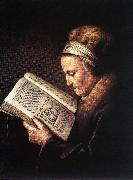 Old Woman Reading a Bible dfg DOU, Gerrit
