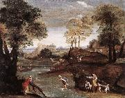 Landscape with Ford dg Domenichino