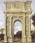 A Triumphal Arch of Allegories dfa Domenichino