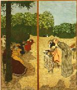 Public Gardens.Little Girls Playing and The Examination Vuillard