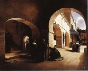 The Ave Maria;Interior of a Convent at Aramont,Verberie(Oise) Francois Bonvin