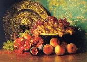 Figs, Pomegranates, Grapes and Brass Plate George Henry Hall