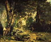 A Thicket of Deer at the Stream of Plaisir-Fontaine Gustave Courbet