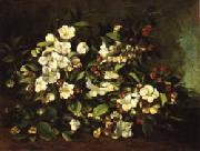 Apple Tree Branch in Flower Gustave Courbet