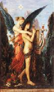 Hesiod and the Muse Gustave Moreau