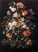 Flowers in Glass and Fruits Jan Davidsz. de Heem