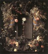Eucharist in Fruit Wreath Jan Davidsz. de Heem
