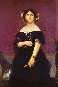 Portrait of Madame Moitessier Standing Jean Auguste Dominique Ingres