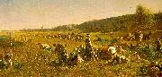 The Cranberry Harvest on the Island of Nantucket Eastman Johnson
