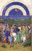 Les trs riches heures du Duc de Berry: Mai (May) g LIMBOURG brothers