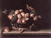 Basket with Peaches and Grapes s MOILLON, Louise