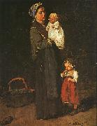 Mother and Child  ddf Mihaly Munkacsy