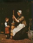 Woman Churning Mihaly Munkacsy
