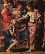 Jesus Healing the Blind of Jericho Nicolas Poussin