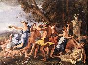 Bacchanal before a Statue of Pan Nicolas Poussin