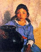 Gregorita with the Santa Clara Bowl Robert Henri