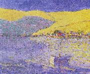 Boat and Yellow Hills Seldon Connor Gile