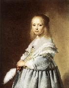Girl in a Blue Dress wer VERSPRONCK, Jan Cornelisz