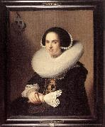 Portrait of Willemina van Braeckel er VERSPRONCK, Jan Cornelisz