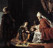 Hannah Giving Her Son Samuel to the Priest ar VICTORS, Jan