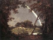 Landscape with Rainbow wer WRIGHT, Joseph