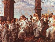 May Morning on Magdalen Tower William Holman Hunt