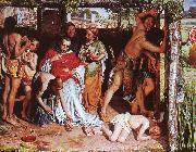 A Converted British Family Sheltering a Christian Missionary from the Persecution of the Druids William Holman Hunt