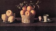 Still-life with Lemons, Oranges and Rose ZURBARAN  Francisco de