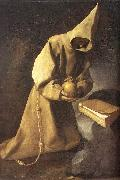 Meditation of St Francis ZURBARAN  Francisco de