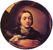 Self-portrait in a Convex Mirror a PARMIGIANINO