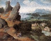 Landscape with the Flight into Egypt agh PATENIER, Joachim