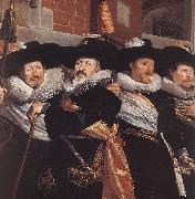 Officers of the Civic Guard of St Adrian (detail) a POT, Hendrick Gerritsz