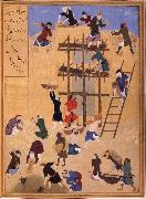 Building ot Castle Khawarnaq,wherein the chamber of the seven icons will be hidden Bihzad