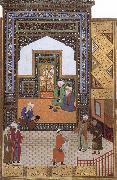 A Poor dervish deserves,through his wisdom,to replace the arrogant cadi in the mosque Bihzad