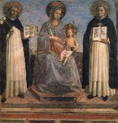 Madonna and Child with St Dominic and St Thomas Aquinas Fra Beato