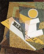 Newpaper and Fruit dish Juan Gris