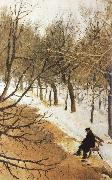 Boulevard Zubov in Winter Vasily Surikov